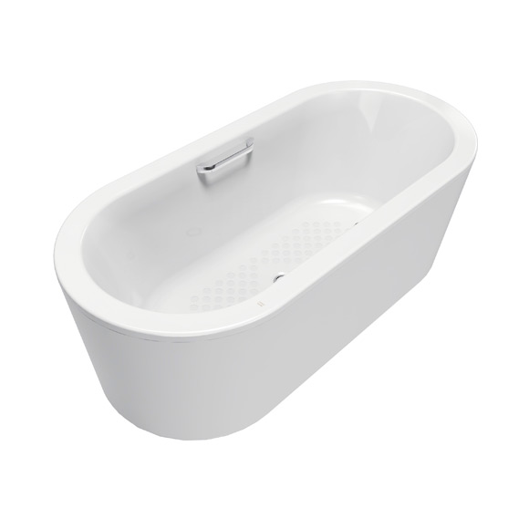 Acacia 1.6m Cast Iron Floor-standing Tub