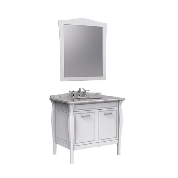 Simple Classic Series Floor Standing Bathroom Furniture & Mirror