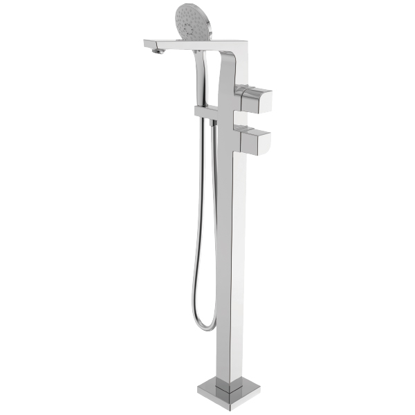 La Moda Floor-Standing Thermostatic Bath & shower Faucet (w/Hand Shower)